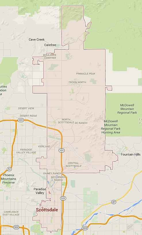 Scottsdale Pest Control Coverage Map