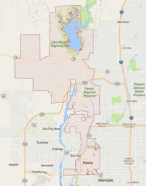 Peoria Coverage Areas