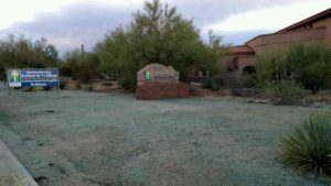 Scottsdale Weed Control near Living Water Lutheran Church.